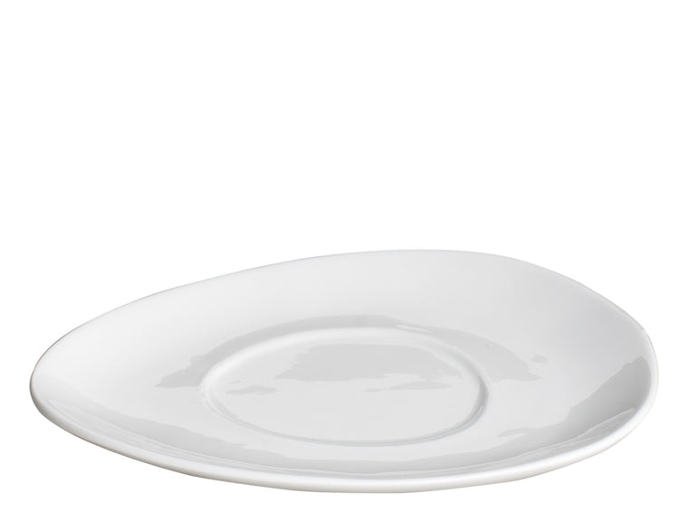Royal White New Bone Triangle Saucer 16.5 cm