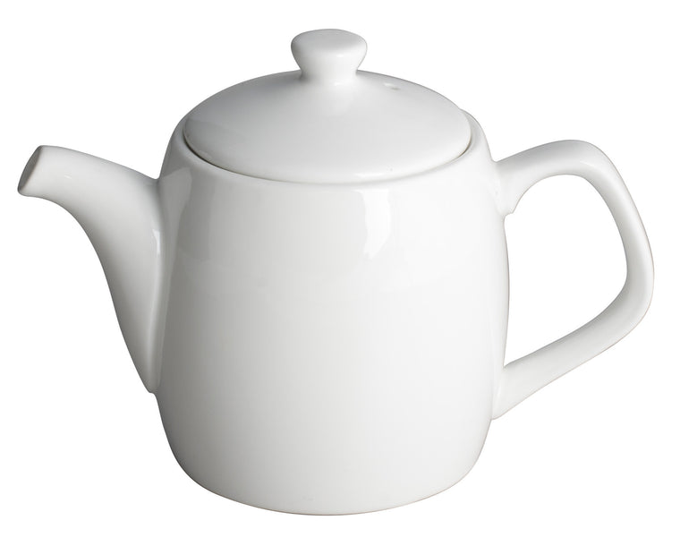 Royal White New Bone Tea/Coffee Pot with Lid 450 cc