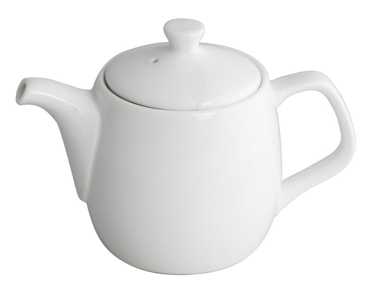 Royal White New Bone Tea / Coffee Pot with Lid 700 cc