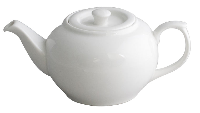 Royal White New Bone Chinese Tea Pot with Lid 1100 cc