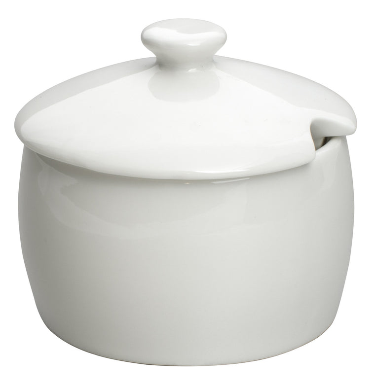 Royal White New Bone Sugar Bowl with Lid 250 cc