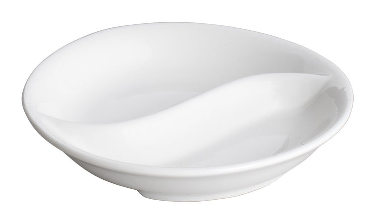 Royal White New Bone Round Divided Dish 10 cm