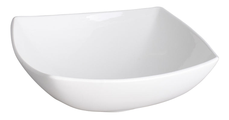 Royal White New Bone Arch Shape Square Bowl 24.5 cm