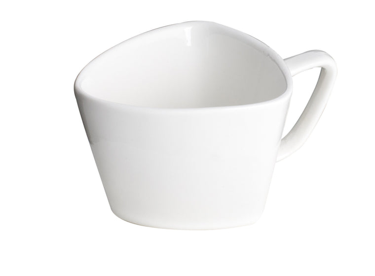 Royal White New Bone Triangle Tea/Coffee Cup 150 cc 11.5 cm
