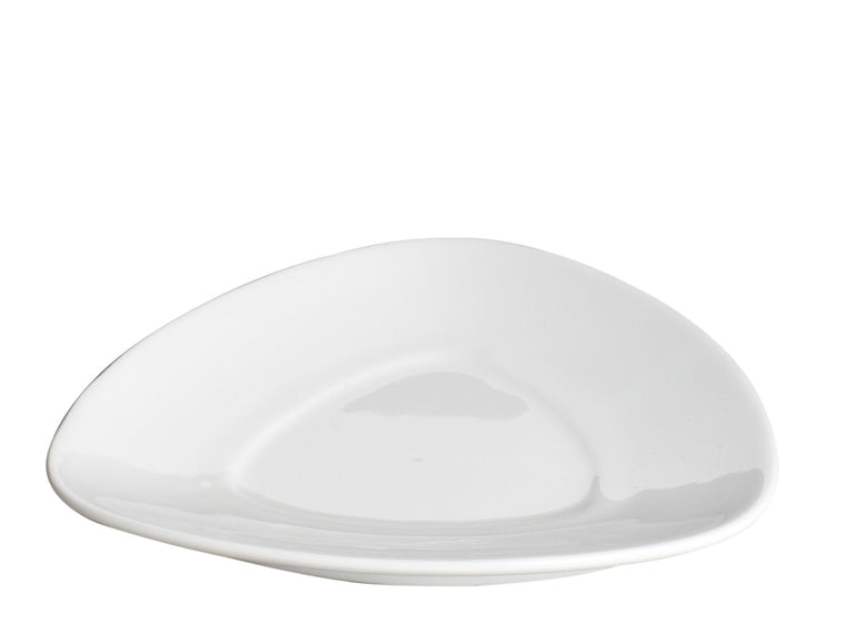 Royal White New Bone Triangle Saucer 13.5 cm
