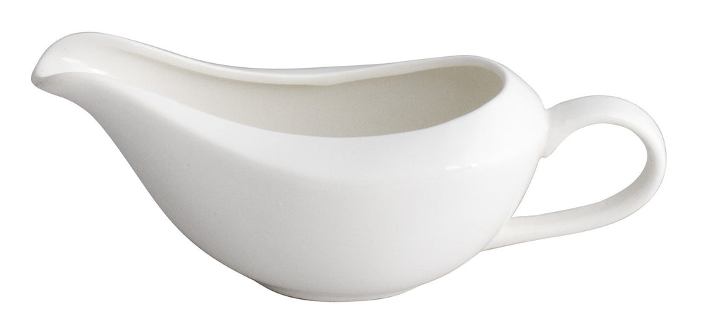 Royal White New Bone Sauce Boat 18.5 cm
