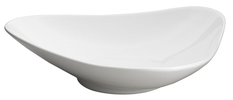 Royal White New Bone Arch Shape Triangle Bowl 33.5x32x8 cm
