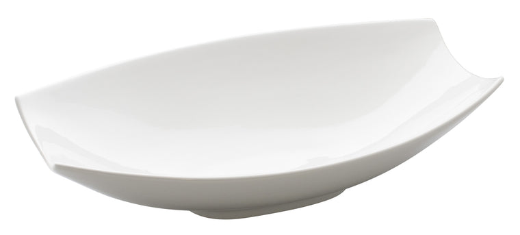Royal White New Bone Arch Shape Oblong Bowl 41.8x27x11 cm