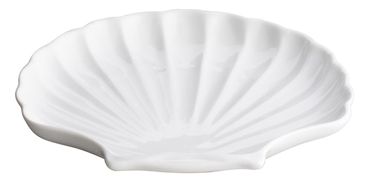Royal White New Bone Shell Shape Dish 23 cm