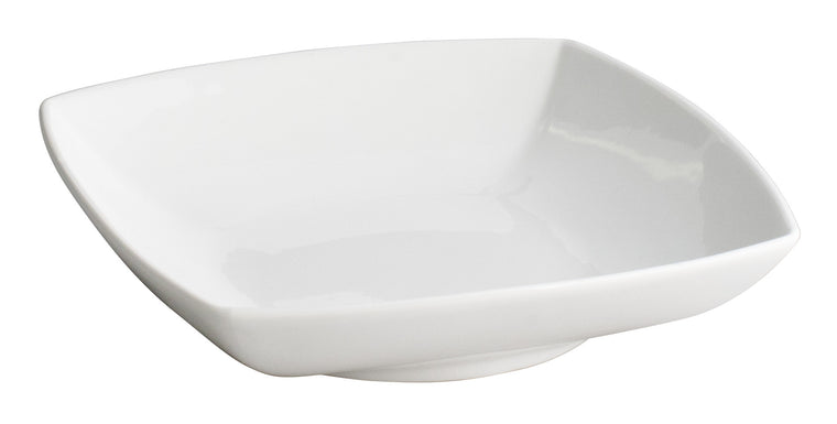 Royal White New Bone Arch Shape Square Bowl 21 cm
