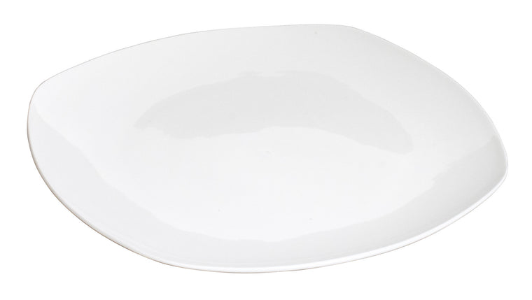 Royal White New Bone Square Plate 26 cm