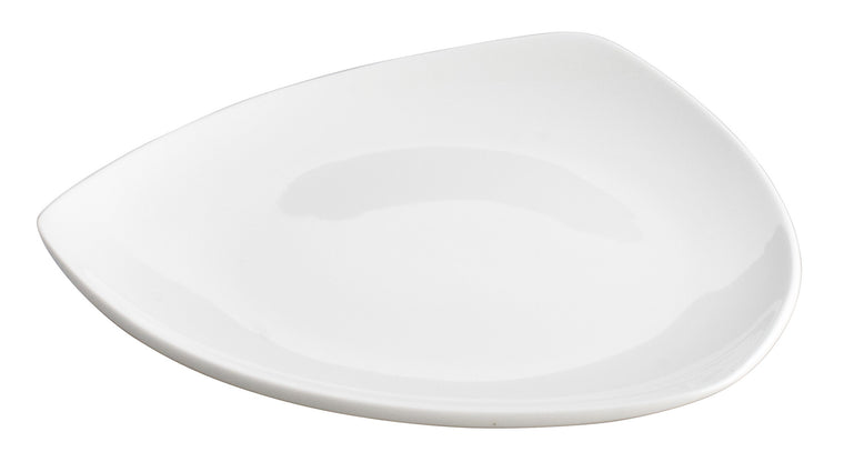 Royal White New Bone Triangle Plate 20.5 cm