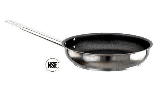 Paderno Stainless Steel Frypan With Non-Stick Coating