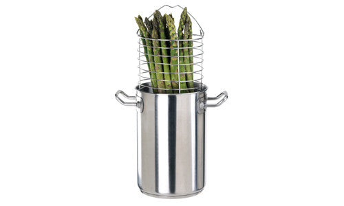 Paderno Stainless Steel Asparagus Pot 16x24 cm H 418 Ltr.