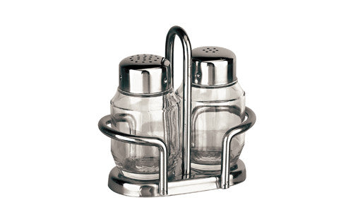 Paderno Stainless Steel Condiment Set Salt/Pepper