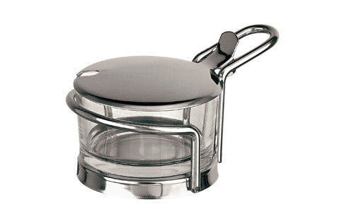 Paderno Glass Cheese Jar With Stainless Steel Holder