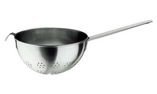 Paderno Stainless Round Bottom Steel Strainer With Hook and Handle