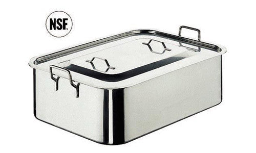 Paderno Stainless Steel Roast Pan With Cover 61x43x15 cm