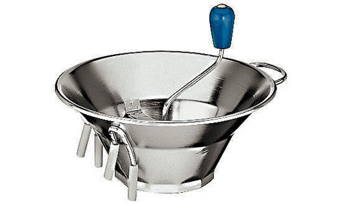 Paderno Stainless Steel Vegetable Mill/Sieve With 3Discs D32xH25 cm 1.4Kg. Disc: 1.5mm, 2.5mm, 4mm