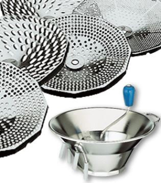 Paderno Stainless Steel Vegetable Mill/Sieve With 3Discs
