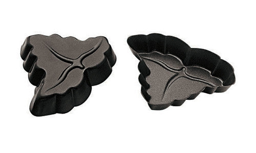 Paderno Non-Stick Wine Leaf Tart Mould 12x2 cm