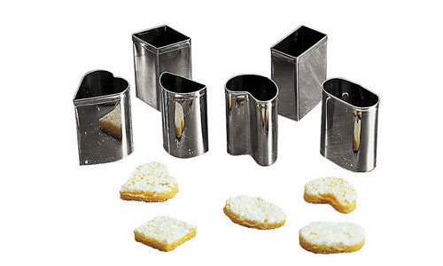 Paderno Stainless Steel Praline Cutter Set Of 9@S