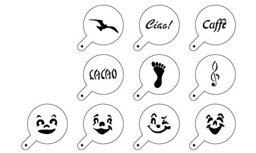 Paderno Set Of 10 Stencils Plastic