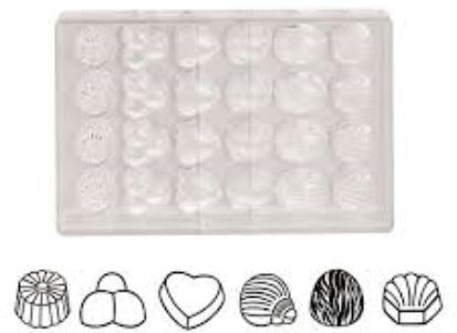 Paderno Chocolate Mould, Assorted Designs, 24 pcs
