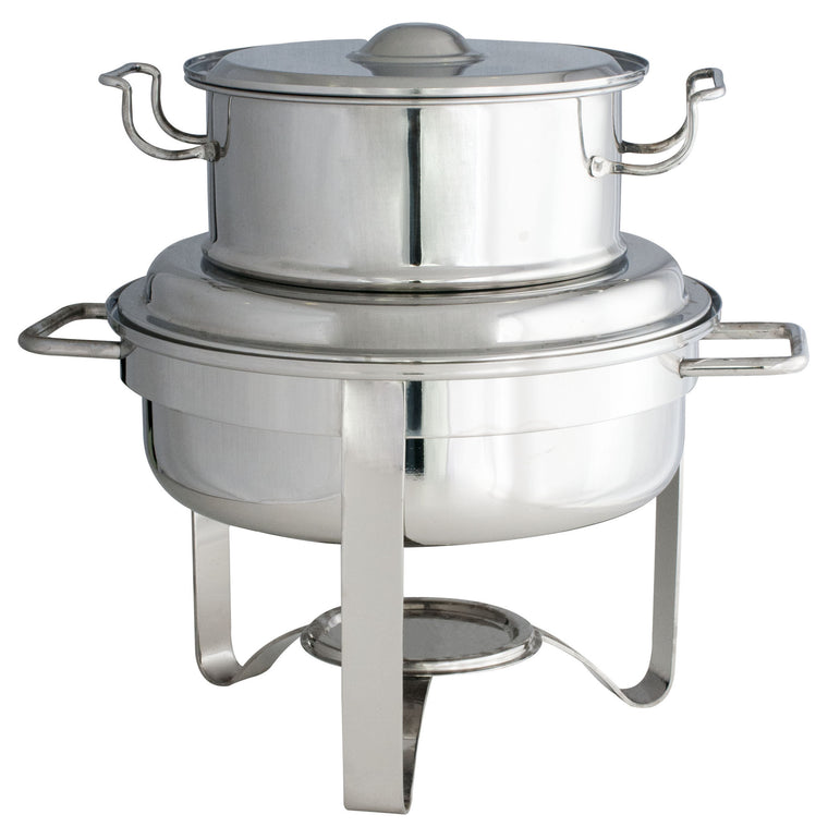 Stainless Steel Round Soup Station, 7.5L