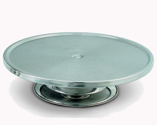 "King Metal Stainless Steel Cake Stand 13x3¼""H"