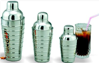 King Metal Stainless Steel Cocktail Shaker Ribbed