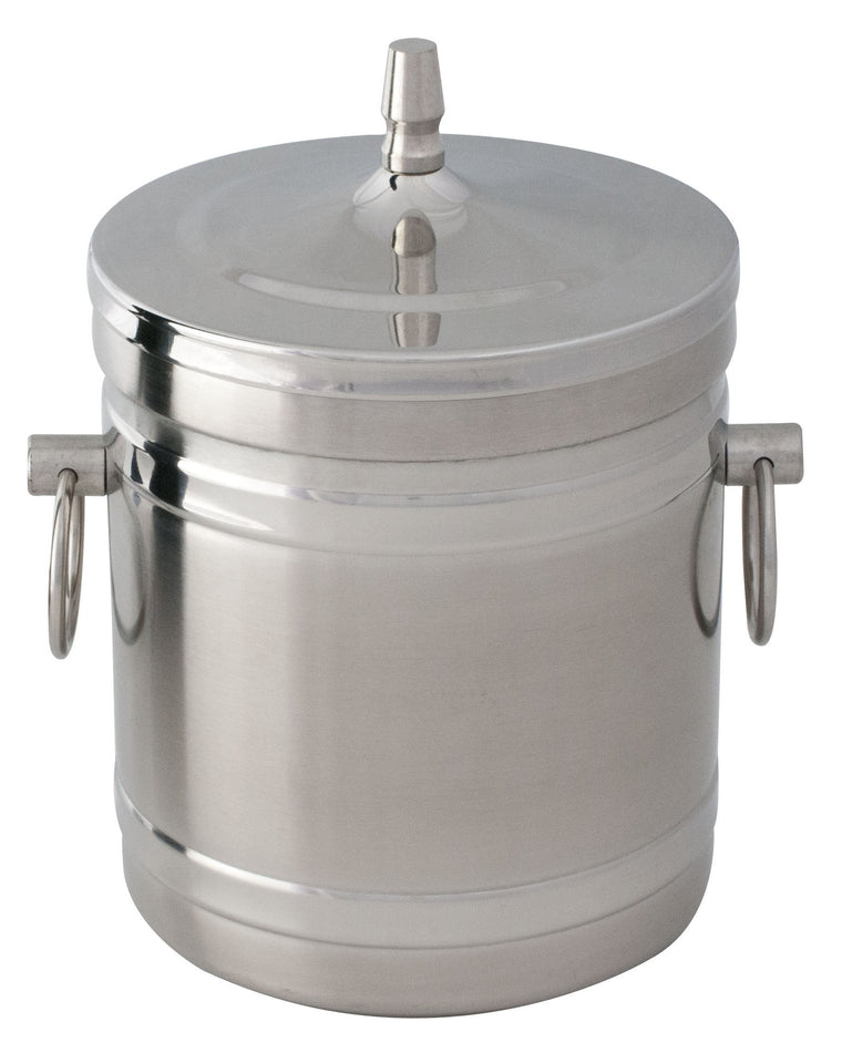 Stainless Steel Ice Bucket 1 litre with Ring Handle without Tong