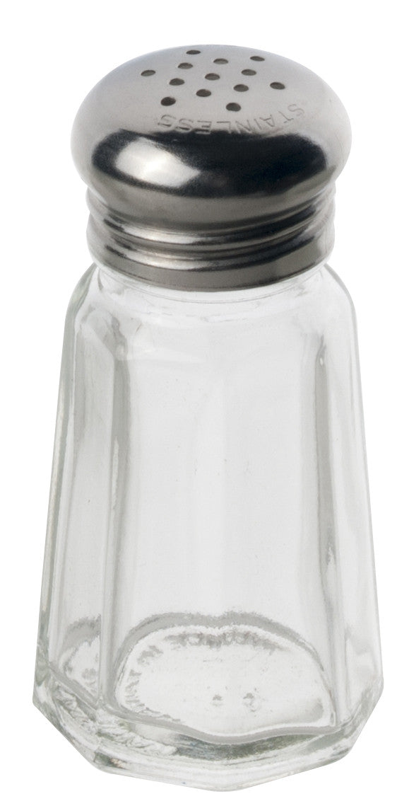 Alegacy Glass Salt/Pepper Shaker, Stainless Steel Top