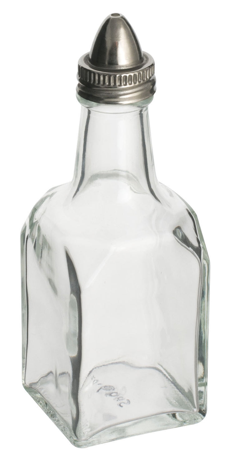 Alegacy Sq Glass Oil/Vinegar Bottle With Stainless Steel Top
