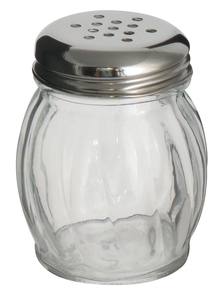 Alegacy 6 oz Glass Cheese Shaker With Stainless Steel Perforated Top