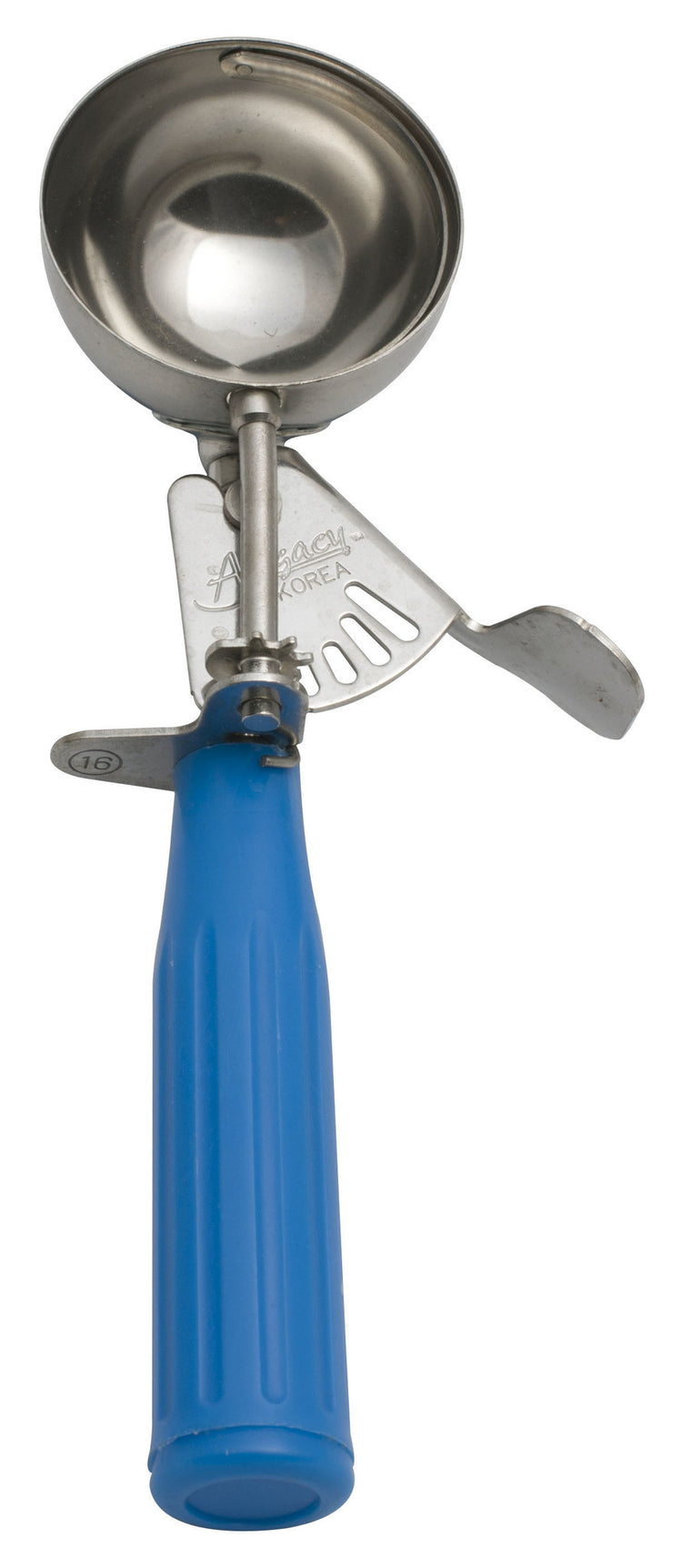 Alegacy Ice Cream/Food Disher With Blue Handle 2¾ oz