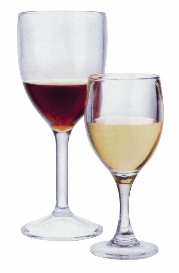 PC WINE GLASS CLEAR, SET OF 6