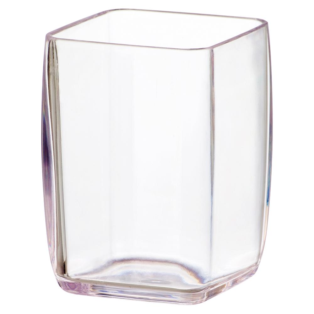 PC TUMBLER SQUARE CLEAR, SET OF 6
