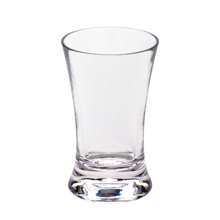 PC FLARE SHOTER GLASS CLEAR, SET OF 6