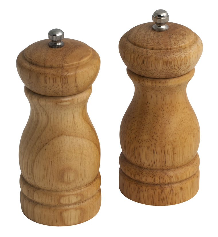 "5"" Wooden Pepper & Salt Mill Set"