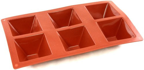 Paderno Flexible Non-Stick Baking Mould -  Pyramid 70 x 40mm