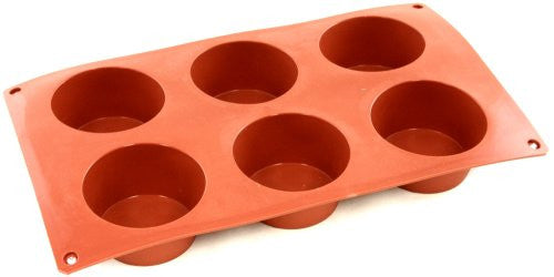 Paderno Flexible Non-Stick Baking Mould -  Muffin 70 x 40mm