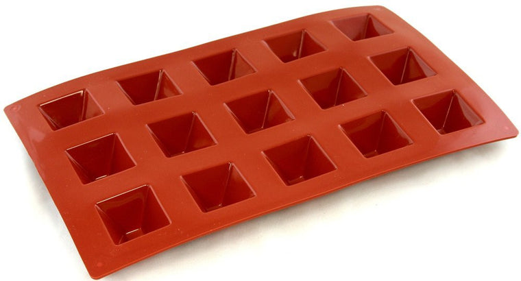 Paderno Flexible Non-Stick Baking Mould -  Pyramid 36 x 22mm