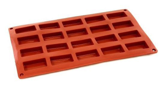 Paderno Flexible Non-Stick Baking Mould -  Mini Financier 49 x 26 x 11mm