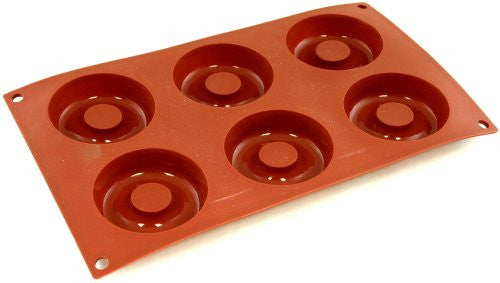 Paderno Flexible Non-Stick Baking Mould -  Savarin 72 x 23mm