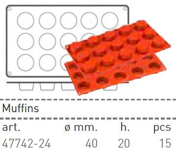 Paderno Flexible Non-Stick Baking Mould -  Petit Fours 40 x 20mm