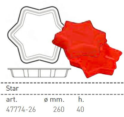 Paderno Flexible Non-Stick Baking Mould -  Star  260 x 40mm