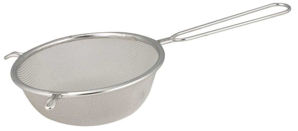 Stainless Steel Single Mesh Strainer, Plastic Handle, 20 cm