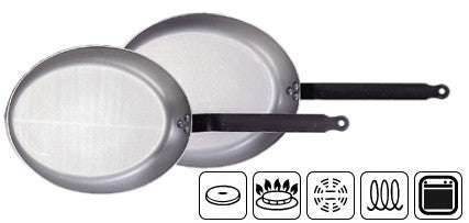de Buyer Steel Oval Fry Pan