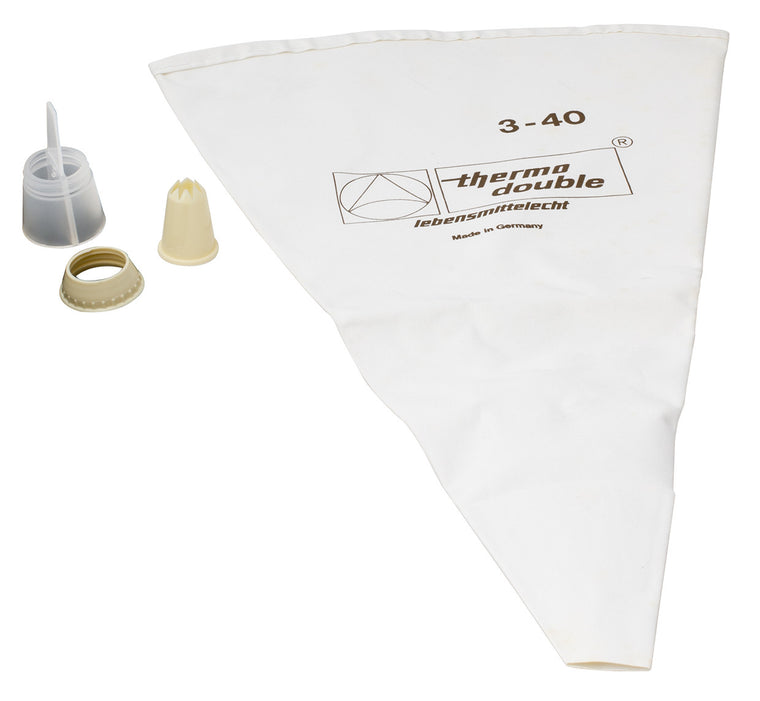 Thermohauser Double Pastry Bag With Tip 3-40 cm